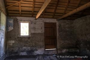 Inside a tabby shack