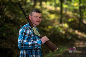 Nelson pictured with his first shotgun