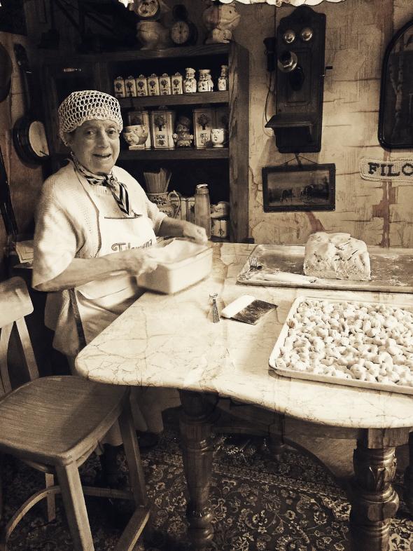 Pasta Lady Sepia