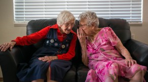 Thelma and Lela sharing secrets of living to 100+